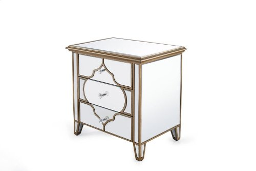 Beveled Glass Night Table