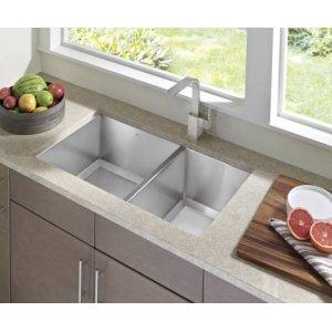 "1600 Series 34""x20"" stainless steel 16 gauge double bowl sink"