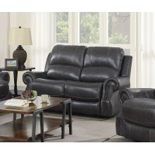 EM1196 Collection - Dual Reclining Loveseat with Power Headrest  USB Charcoal Gray