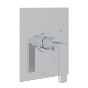 Polished Chrome Wave Pressure Balance Trim Without Diverter with Metal Lever