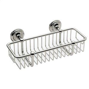 """Satin Nickel 10"""" Toiletry Basket"""