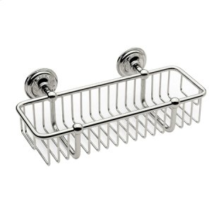 "Polished Nickel 10"" Toiletry Basket"