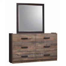 Weston Weathered Oak and Rustic Coffee Mirror