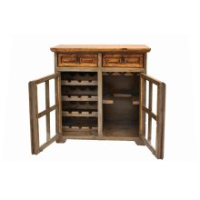Nogal/Gray Wine Cabinet