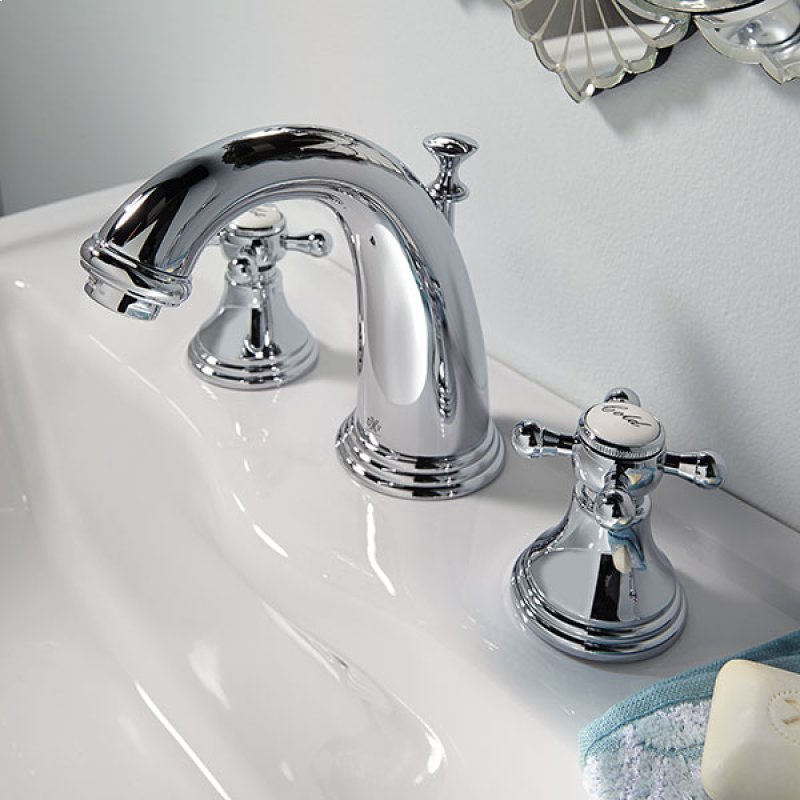 Ashbee Widespread Bathroom Faucet With Cross Handles Polished Chrome