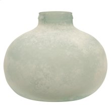 Frosted Recycled Glass Vase