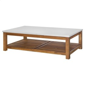 Toledo KD Coffee Table with White Concrete Top, Amber
