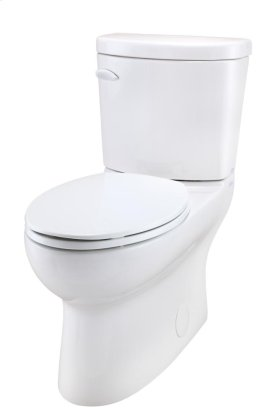 """White Avalanche® Ct 1.28 Gpf 12"""" Rough-in Two-piece Elongated Ergoheight Toilet"""