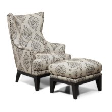 H055 Brewster Accent Chair & Ottoman