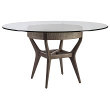 Formosa Round Dining Table With Glass Top