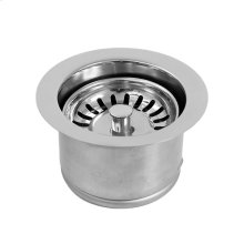 Waste disposal trim with disposer stopper/strainer unit with large collar
