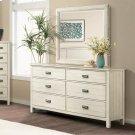 Aberdeen - Six Drawer Dresser - Weathered Worn White Finish Product Image
