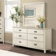 Aberdeen - Mirror - Weathered Worn White Finish Product Image