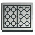 Kaia 2 Door Chest - Steel Teal / Nickel / Mirror Product Image