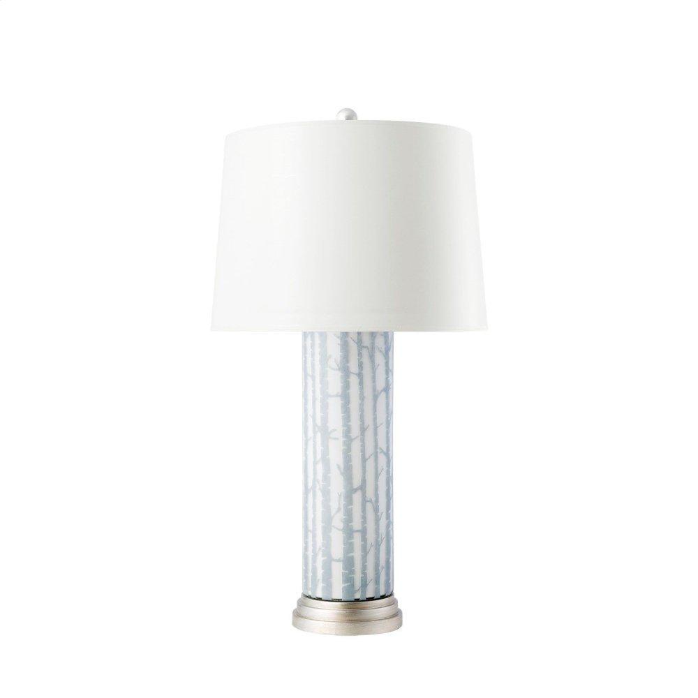 Birch Lamp, Gray and White