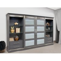 Cascades 4 pc. Entertainment Sliding Door Wall Product Image