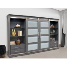 Cascades 4 pc. Entertainment Sliding Door Wall