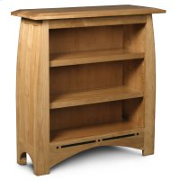 Aspen Short Bookcase, Aspen Short Open Bookcase with Inlay, 2-Adjustable Shelves Product Image