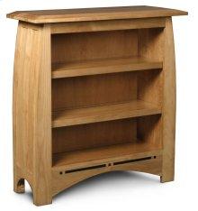 Aspen Short Bookcase, Aspen Short Open Bookcase with Inlay, 2-Adjustable Shelves