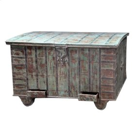 York Wooden Wheeled Box