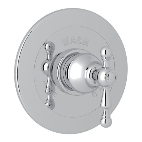 Polished Chrome Arcana Integrated Volume Control Pressure Balance Trim Without Diverter with Arcana Series Only Ornate Metal Lever