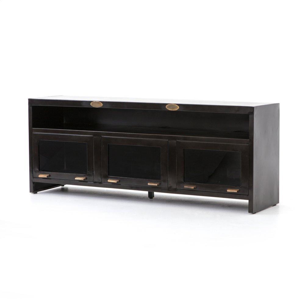 Rockwell 3 Door Media Cabinet Natural