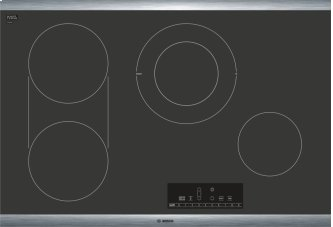 """800 Series 30"""" Electric Cooktop 800 Series - Black with Stainless Steel Frame NET8068SUC"""