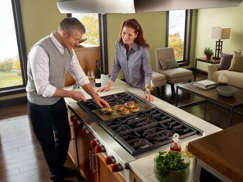 "48"" Sealed Burner Rangetop - 6 Burners and Infrared Griddle"