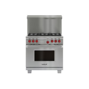 "Wolf36"" x 20"" Dual Fuel Range Riser With Shelf"