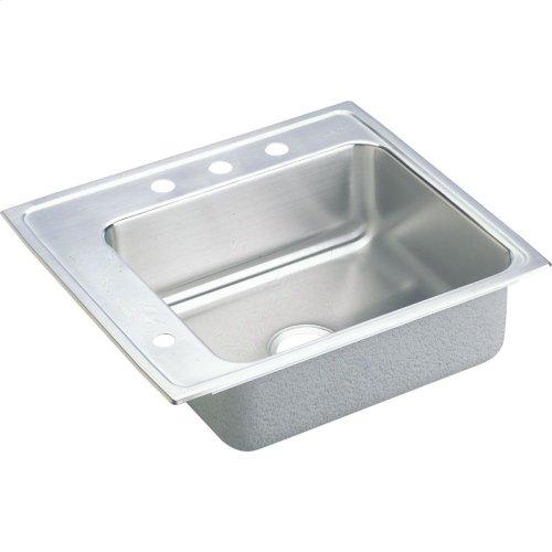 "Elkay Lustertone Classic Stainless Steel 22"" x 19-1/2"" x 6"", Single Bowl Drop-in Classroom ADA Sink"