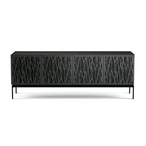 Bdi FurnitureQuad Cabinet With Console Base in Wheat Doors Charcoal Stained Ash