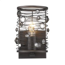 Bijoux 1 Light Wall Sconce in Brushed Etruscan Bronze