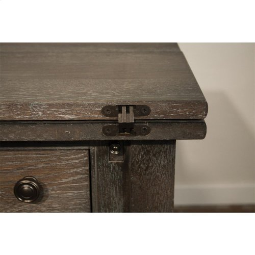 Juniper - Flip Top Sideboard - Charcoal Finish