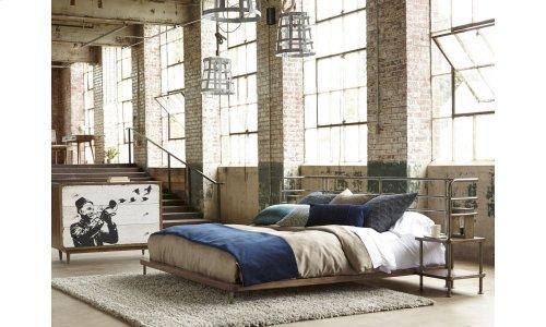 Epicenters King Factory Platform Bed + 2 Nightstands