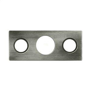 "Strike Plate For 7"" Flush Bolt - Antique Nickel"