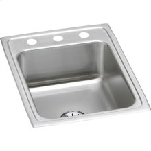"Elkay Lustertone Classic Stainless Steel 17"" x 22"" x 7-5/8"", Single Bowl Drop-in Sink with Perfect Drain"