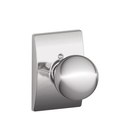 Orbit Knob with Century trim Non-turning Lock - Bright Chrome