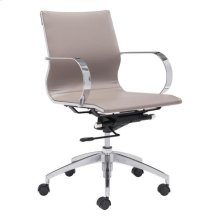 Glider Low Back Office Chair Taupe