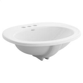Piazza Countertop Bathroom Sink - White