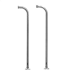 Satin Brass - PVD Floor Riser Kit for Exposed Tub & Hand Shower Set