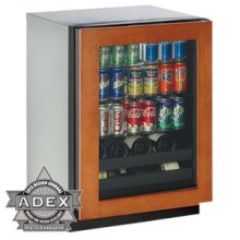 """Overlay Right hand 3000 Series / 24"""" Beverage Center / Digitally Controlled Single-Zone Convection Cooling System"""