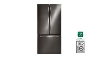 """33"""" Black Stainless Steel French Door Refrigerator With Smart Cooling System, 24 CU.FT."""