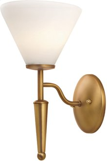 Wall Lamp, Bronze W/white Glass, 60wx5/b Type