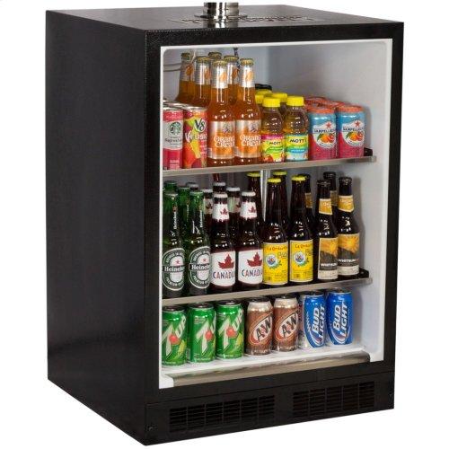 Marvel Built-In Indoor Twin Tap Beer Dispenser - Solid Panel Overlay Ready Door - Integrated Left Hinge