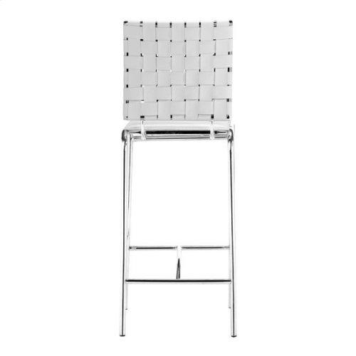 Criss Cross Counter Chair White