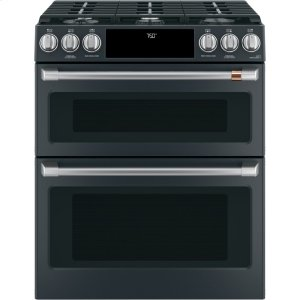 "Cafe30"" Smart Slide-In, Front-Control Gas Double-Oven Range with Convection"