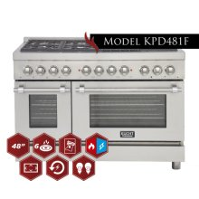 """48"""" Freestanding Dual-Fuel Range for Extra Large Kitchens!"""