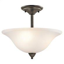 Nicholson Collection Nicholson 3 Light Semi Flush Ceiling Light OZ