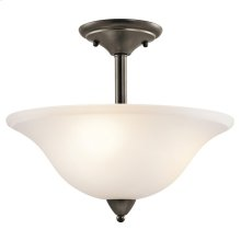 Nicholson Collection Nicholson 3 Light Semi Flush Ceiling Light OZ
