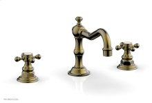 HENRI Widespread Faucet - Cross Handles 161-01 - Antique Brass